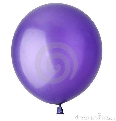 Children s blue balloon isolated