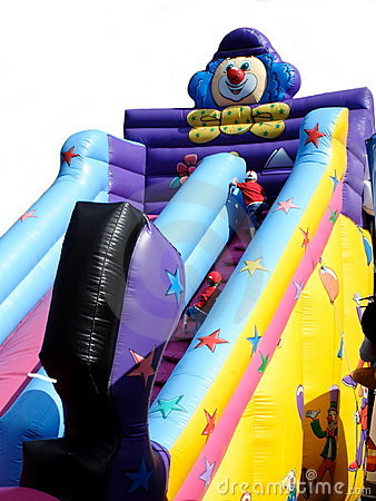 Children on Bouncy Slide