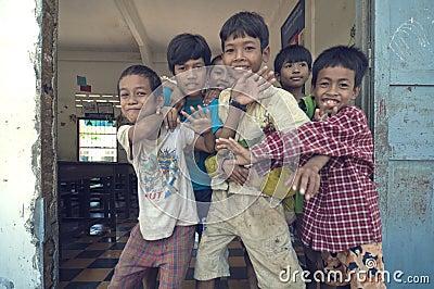 Children s from Cambodia Editorial Stock Photo