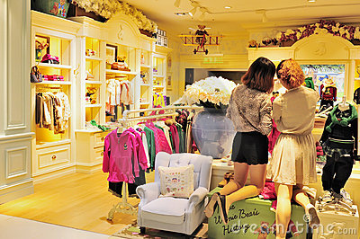 Children s clothing store Editorial Stock Image