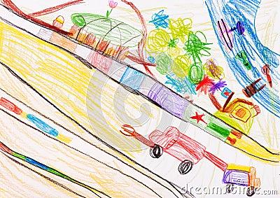Children s drawing. fantasy