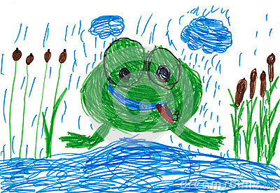 Children s drawing. frog