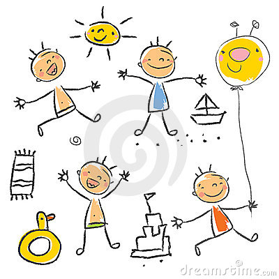 Free Children S Drawing Series Stock Photography - 9744862