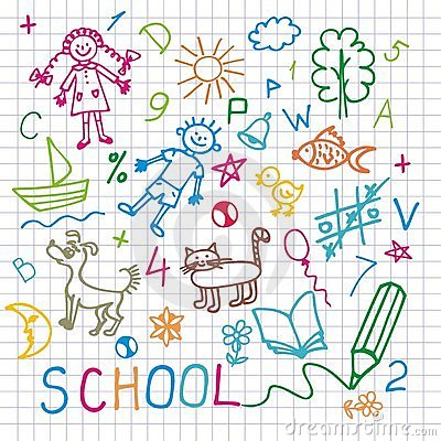 Free Children S Drawings. Vector Background. Stock Photo - 8839440