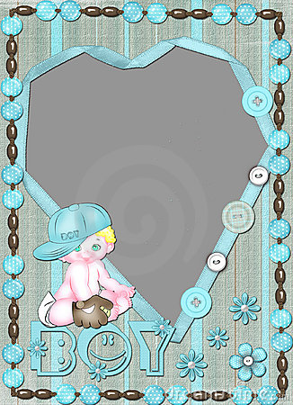 Children s frame for the boy with heart.
