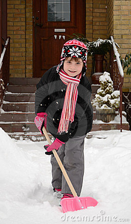 Children s help with winter cleaning