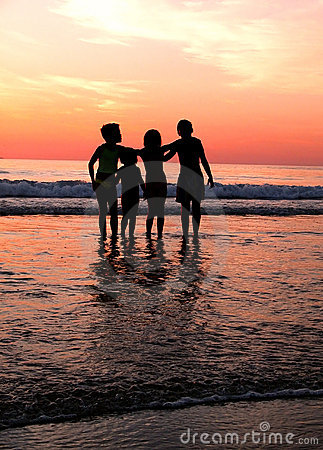 Free Children´s In The Beach Royalty Free Stock Photos - 629518