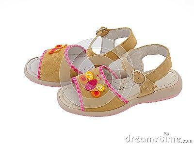 Children s leather sandals
