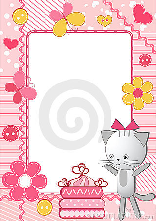 Children s photo framework. Cat.