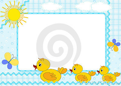 Children s photo framework. Ducklings.