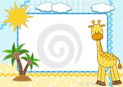 Children s photo framework. Giraffe.