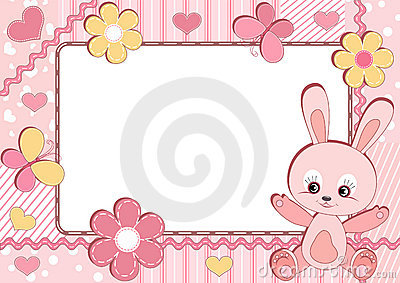 Children s photoframe. Rabbit.