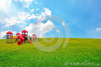Children s playground in garden
