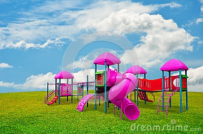 Children s playground in garden