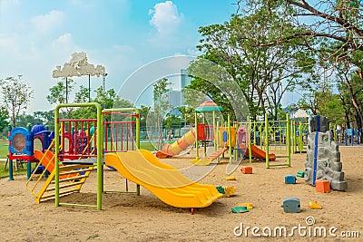 Children s playground leftover