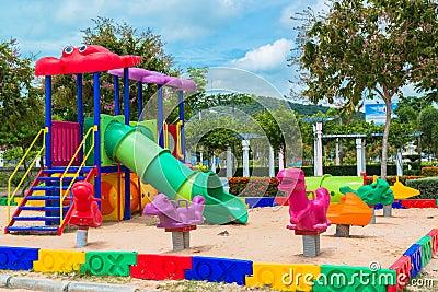 Children' s playground at public park