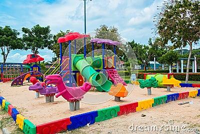 Children  s playground at public park