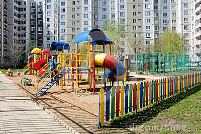 Children s playground in  yard