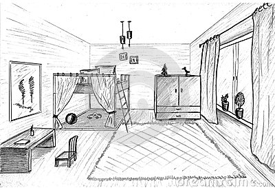 Children s room graphical sketch
