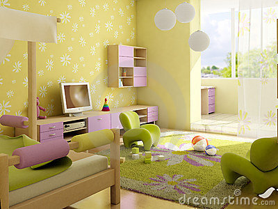 Children s room interior