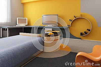 Children s room interior