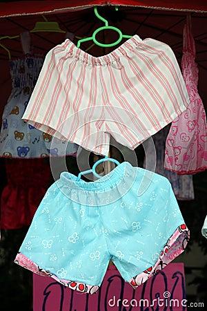 Children s Shorts were hanging.