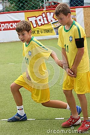 Children s soccer Editorial Photo