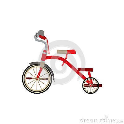 Free Children S Tricycle Side View Flat Illustration Object Stock Photos - 76245143