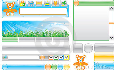 Children`s web site template