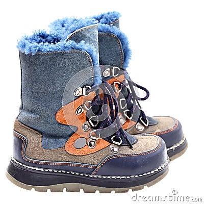 Free Children S Winter Shoes Stock Photo - 16742300