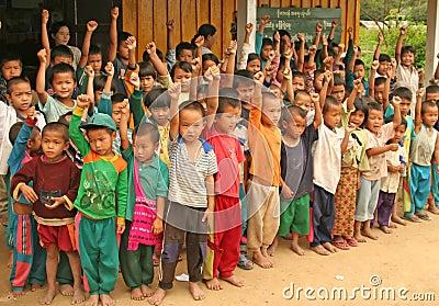 Children in school Editorial Photography