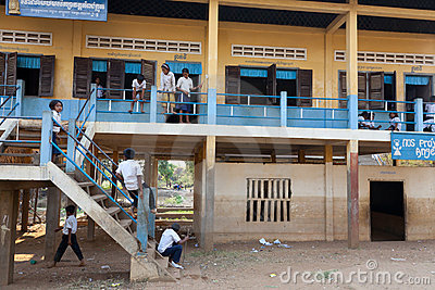 Children at school, Cambodia Editorial Stock Photo