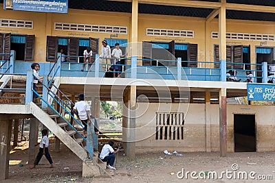 Children at school, Cambodia Editorial Stock Photo