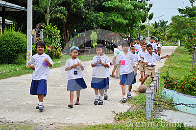 Children in school uniform Editorial Image