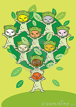 Circle Tree, Cartoon for Baby Children-Diversity