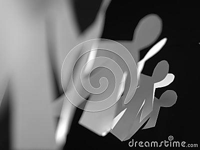 Children shape paper cut