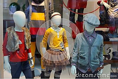 Children shop window
