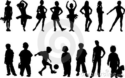 Children silhouette