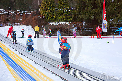 Children ski school Editorial Stock Image