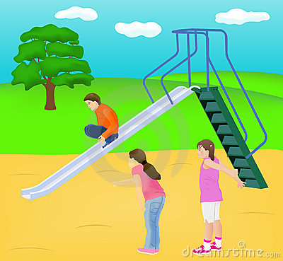 Children Slide Play