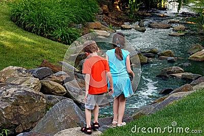 Children By Stream