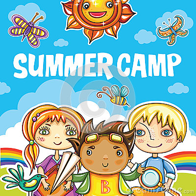 Free Children Summer Camp Series Stock Photography - 94598912