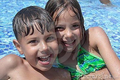 Children in the swimming pool