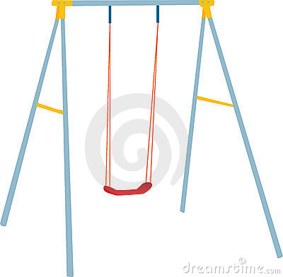 Children swing set, outdoor play.