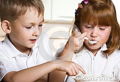 Children taste sweet