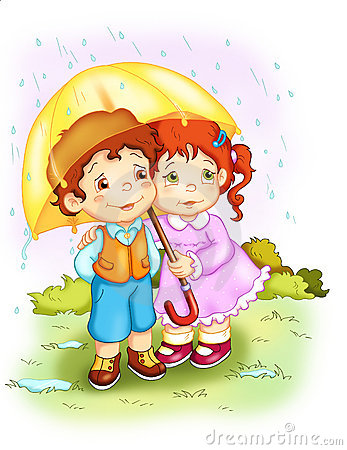 Free Children. The Rain Stock Photography - 12302562
