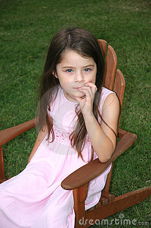 Children- Thinking Girl