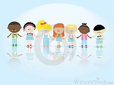 Children to keep for hands Vector Illustration
