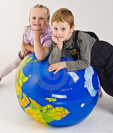 Children on top of world