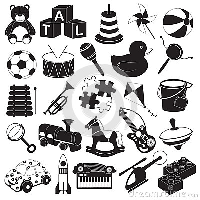 Children Toys Icon Set